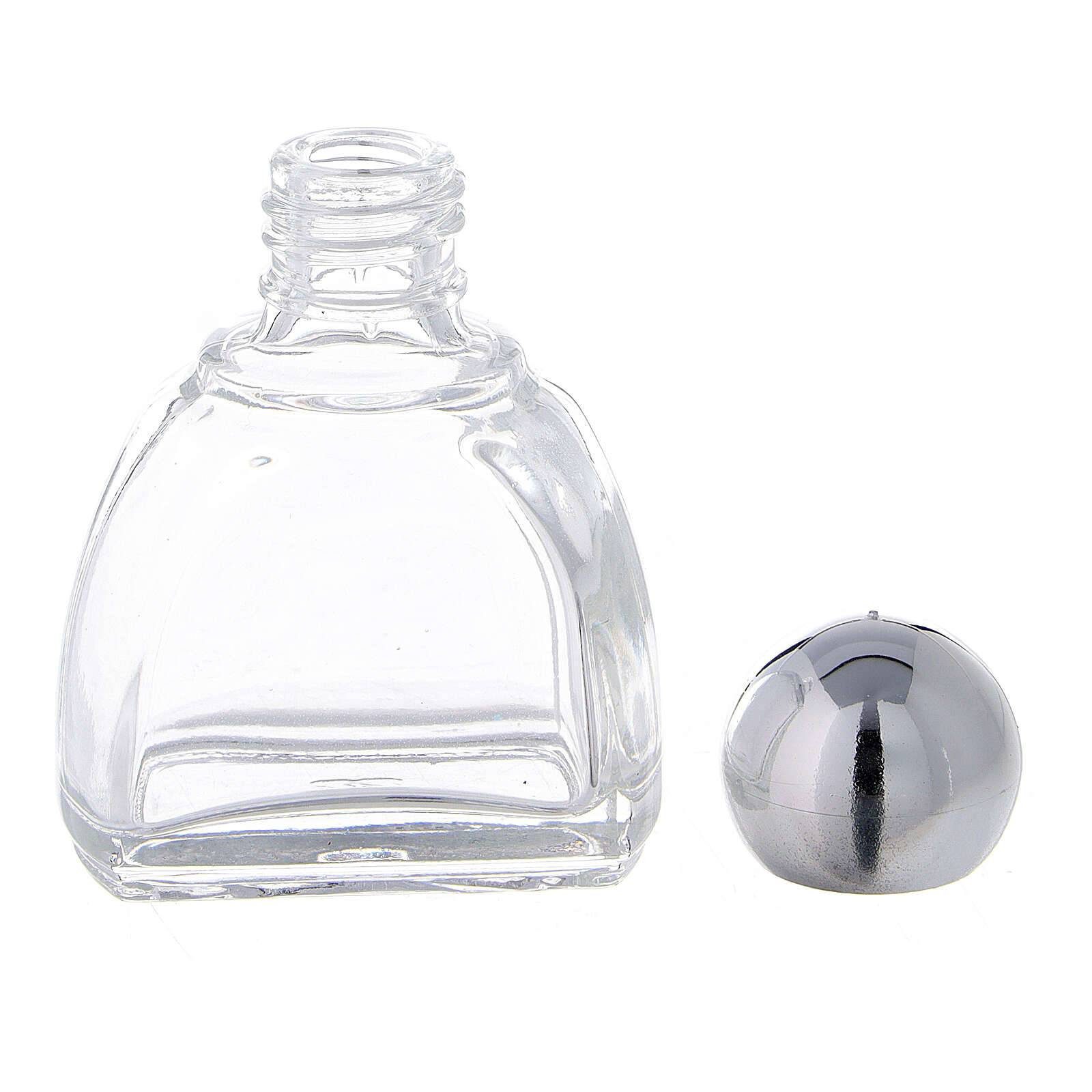 12 ml holy water glass bottle with silver plastic cap (50-PIECE PACK) 3