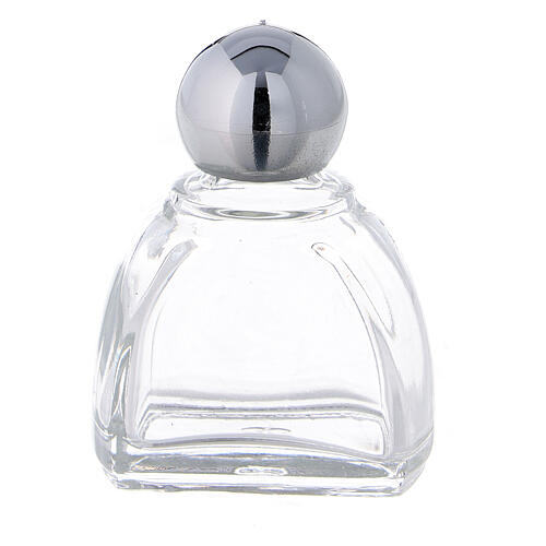 12 ml holy water glass bottle with silver plastic cap (50-PIECE PACK) 1