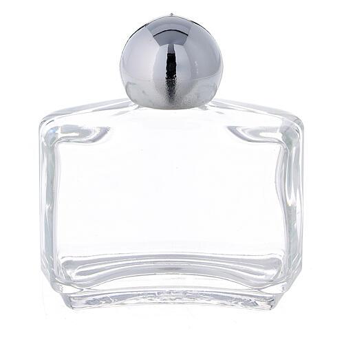 Rectangular holy water bottle, 15 ml in glass (50 pcs pack) 1
