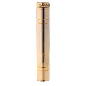 Aspergillum in golden brass 24k, 14 cm with satin case s1