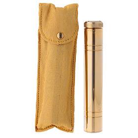 Sprinkler in brass, golden tone with damask case s2