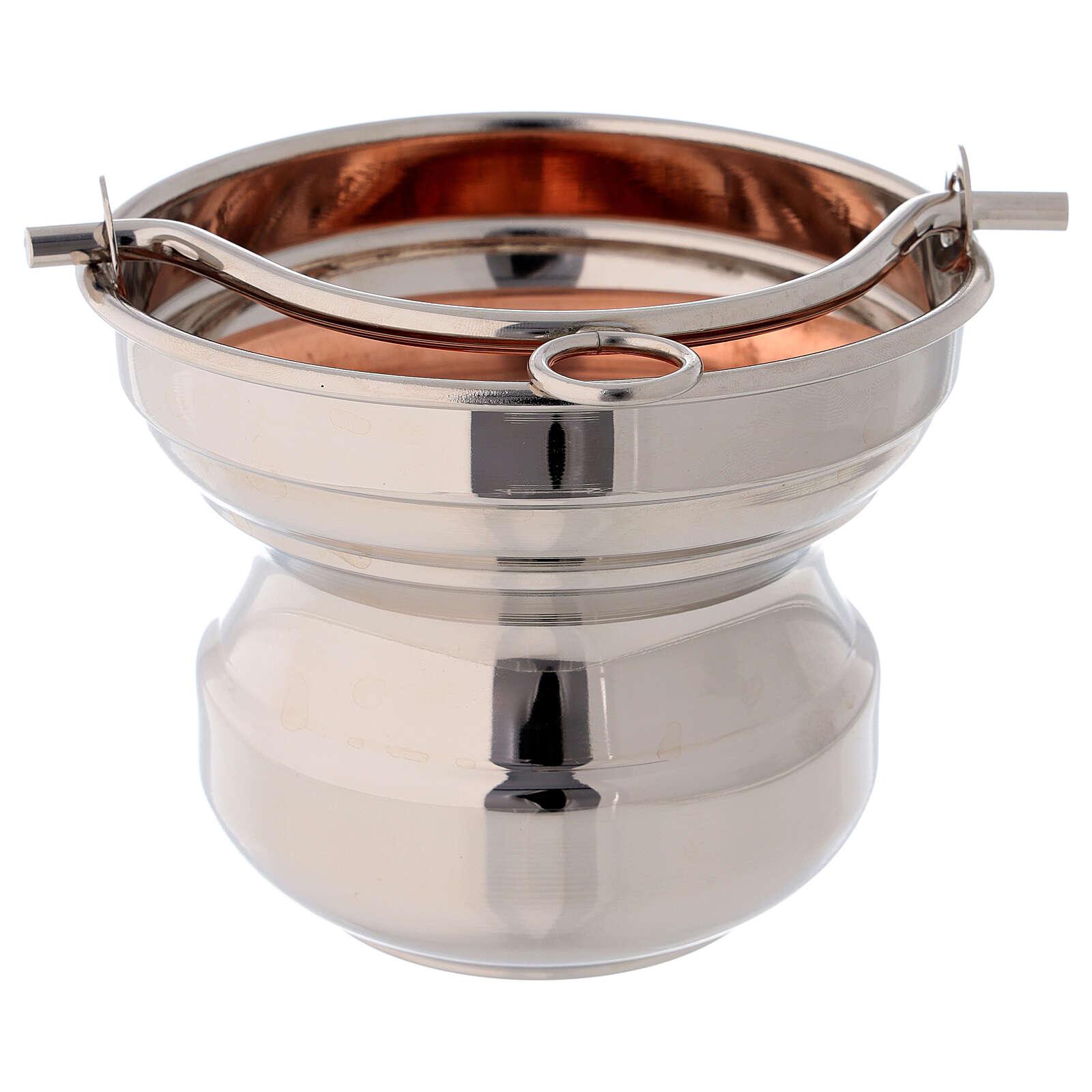 Sceau eau bénite laiton cuivre diamètre 13 cm 3