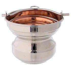Sceau eau bénite laiton cuivre diamètre 13 cm s1