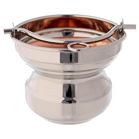 Sceau eau bénite laiton cuivre diamètre 13 cm s3