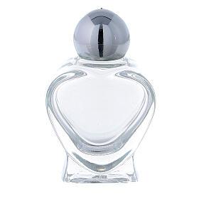 Botella agua bendita en forma de corazón 10 ml (CAJA 50 PIEZAS) vidrio s1