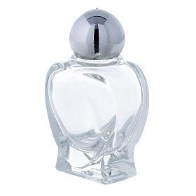 Botella agua bendita en forma de corazón 10 ml (CAJA 50 PIEZAS) vidrio s2