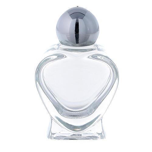 Botella agua bendita en forma de corazón 10 ml (CAJA 50 PIEZAS) vidrio 1