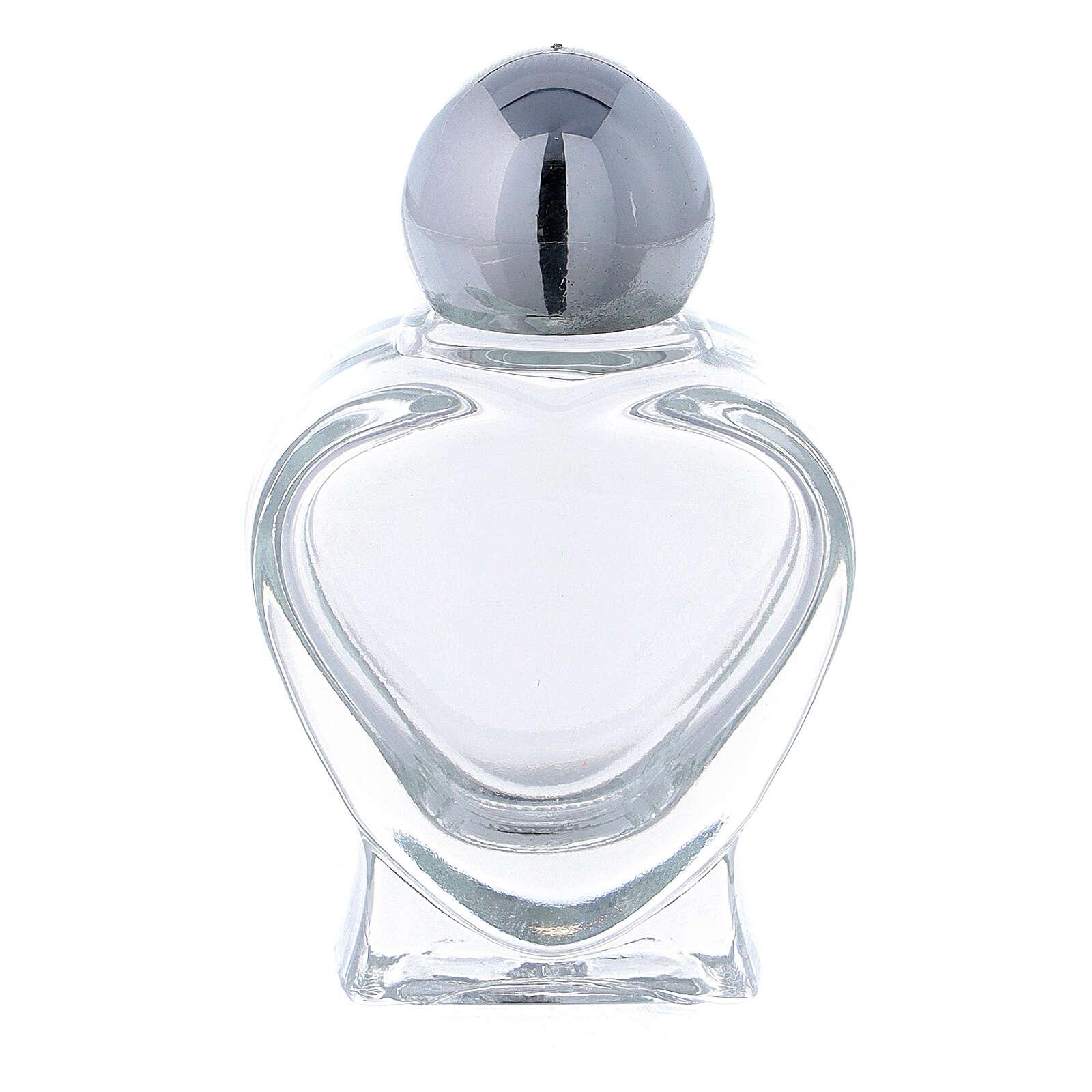 Bottiglietta acquasanta a forma di cuore 10 ml (CONF. 50 PZ) vetro 3