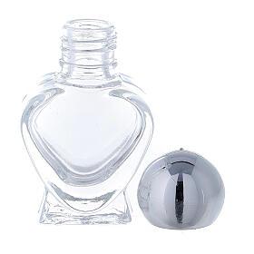 Botella agua bendita corazoncito de vidrio 5 ml (CAJA 50 PIEZAS) s3