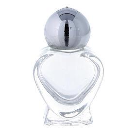 Holy water bottle, heart shaped in glass 5 ml (50 pcs pk) s1
