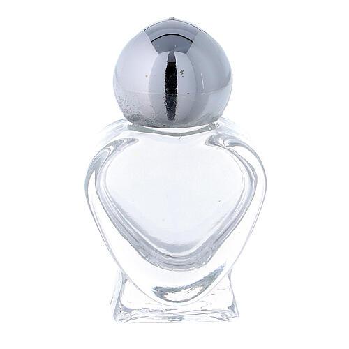 Holy water bottle, heart shaped in glass 5 ml (50 pcs pk) 1