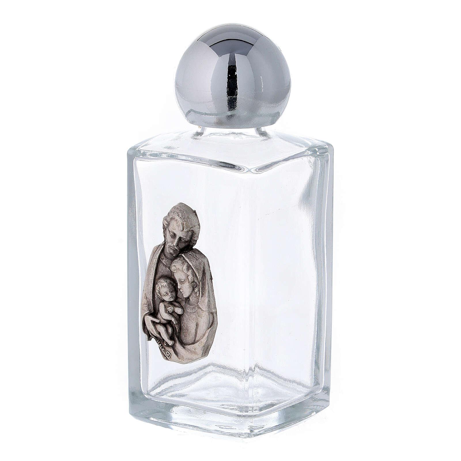 Buteleczka na wodę święconą Święta Rodzina 50 ml (op. 50 sztuk) szkło 3