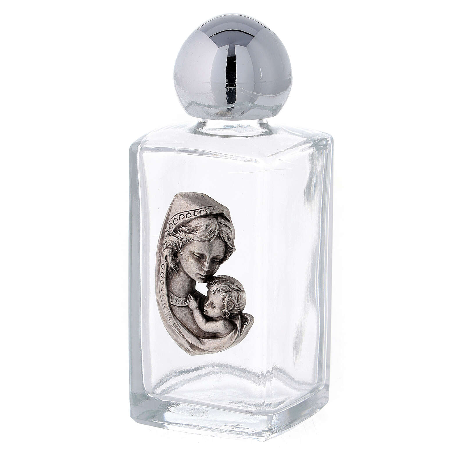 50 ml holy water bottle in glass, Mary with Child (50 pcs) 3
