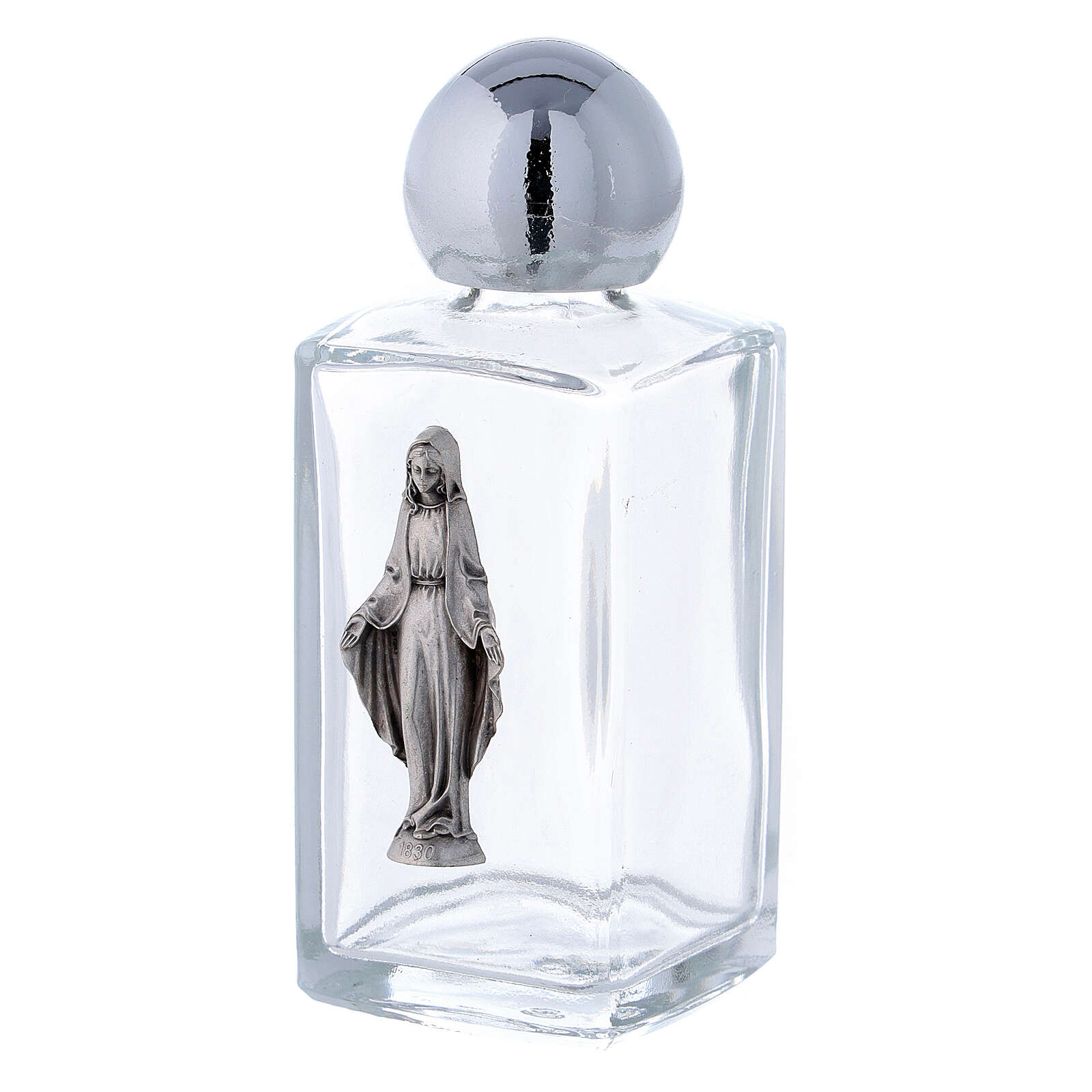 Botella agua bendita Virgen Inmaculada 50 ml (50 PIEZAS) vidrio 3