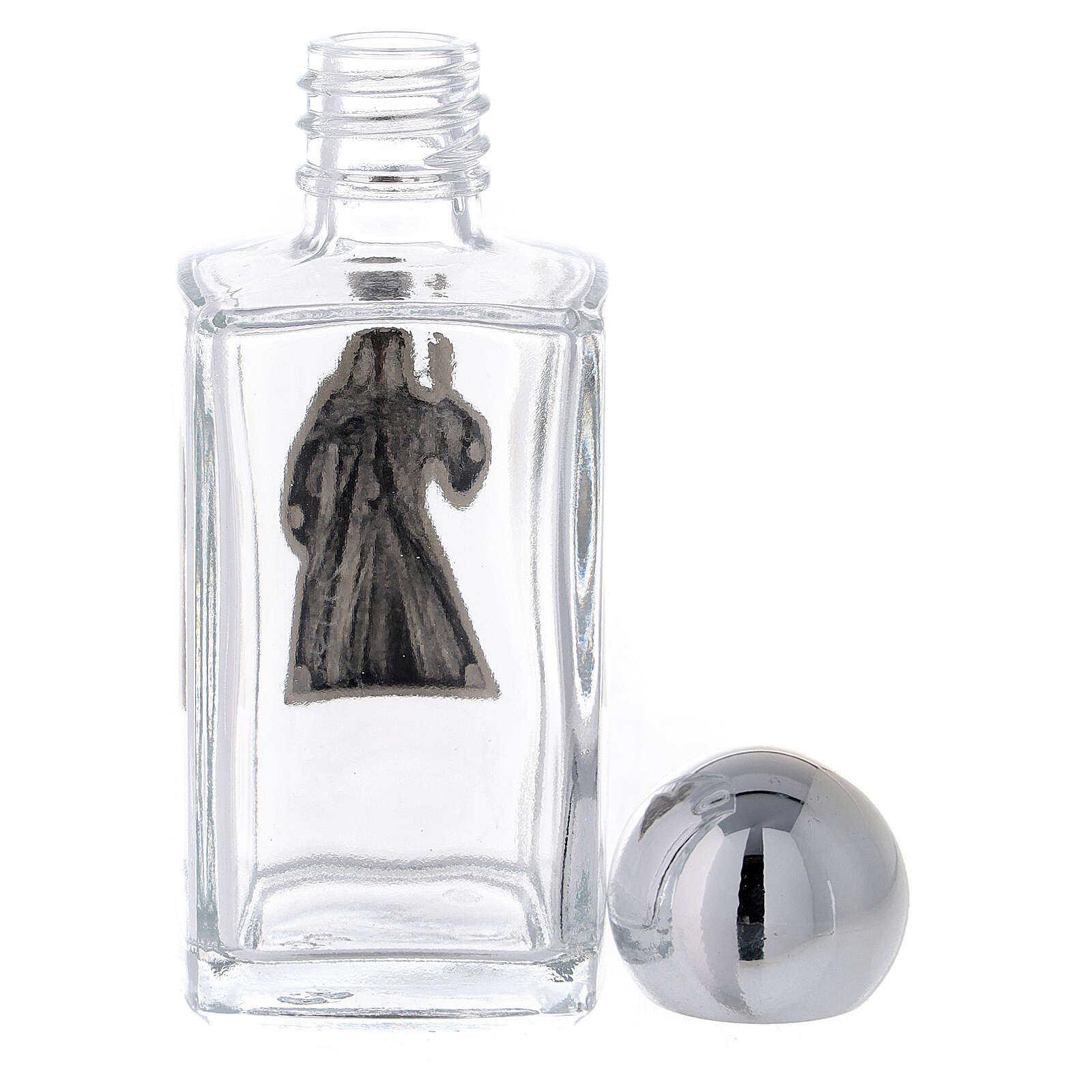 50 ml holy water bottle in glass, Divine Mercy Jesus (50 pcs) 3
