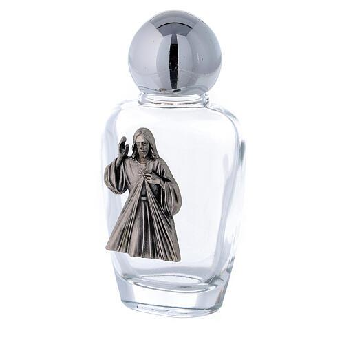 Flacon eau bénite Christ Miséricordieux 30 ml (50 pcs) verre 2