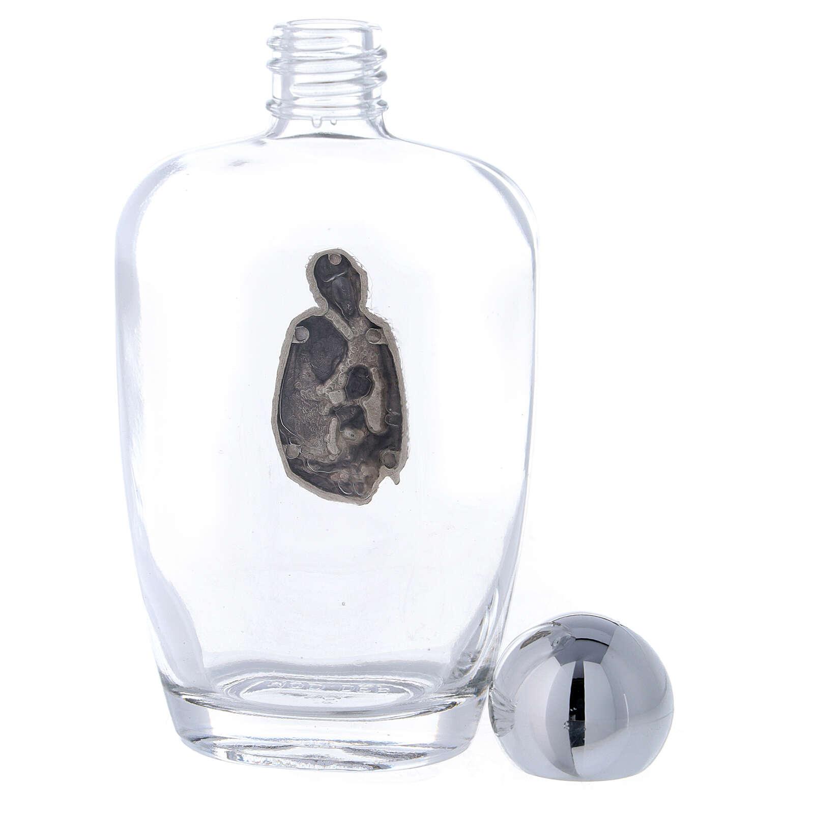 Flacon arrondi eau bénite Sainte Famille 100 ml (25 pcs) verre 3