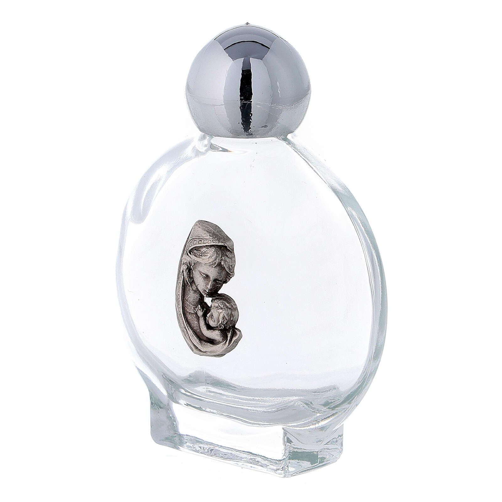 Flacon rond 15 ml pour eau bénite Vierge à l'Enfant (50 pcs) verre 3