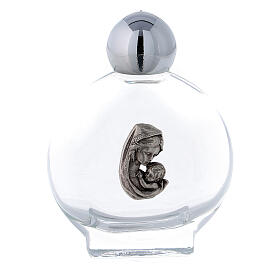 Flacon rond 15 ml pour eau bénite Vierge à l'Enfant (50 pcs) verre s1