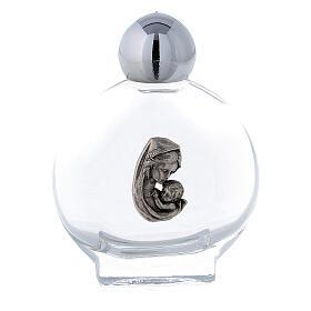 Bottiglietta acquasanta 15 ml Madonna bambino (50 PZ) vetro s1