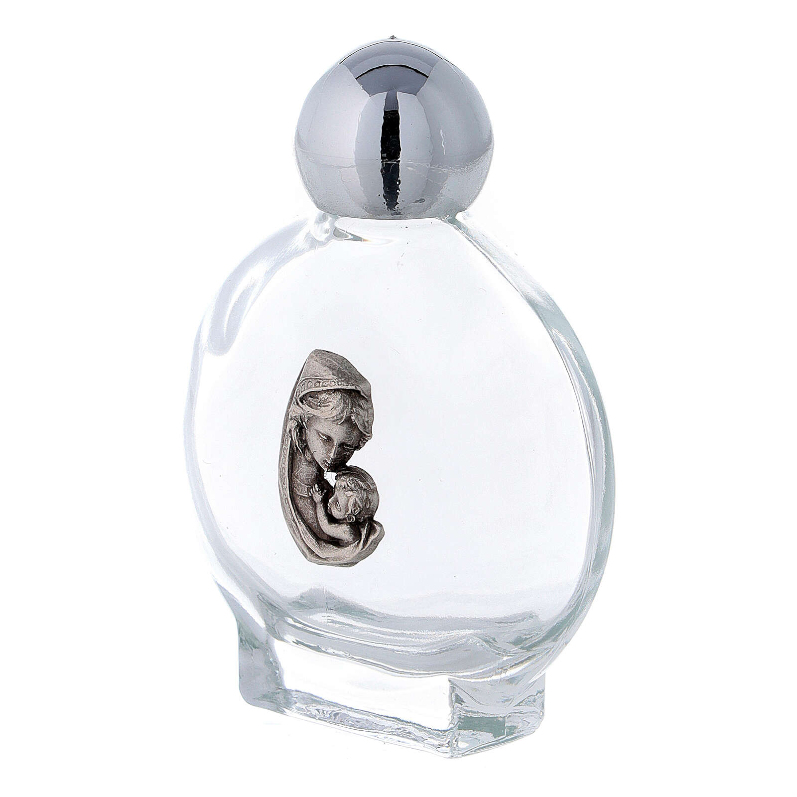 15 ml Holy water bottle with Mary and Child in glass (50 pcs pk) 3