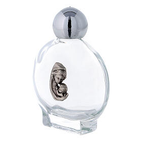 15 ml Holy water bottle with Mary and Child in glass (50 pcs pk) s2