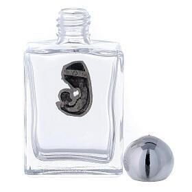 Flacon carré pour eau bénite 15 ml Vierge à l'Enfant (50 pcs) verre s3