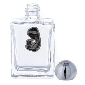Bottiglietta acquasanta 15 ml Madonna e Bambino (50 PZ) vetro s3