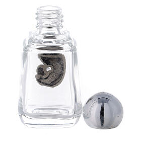 Glass holy water bottle with Madonna and Child, 15 ml (50 piece pk) s3