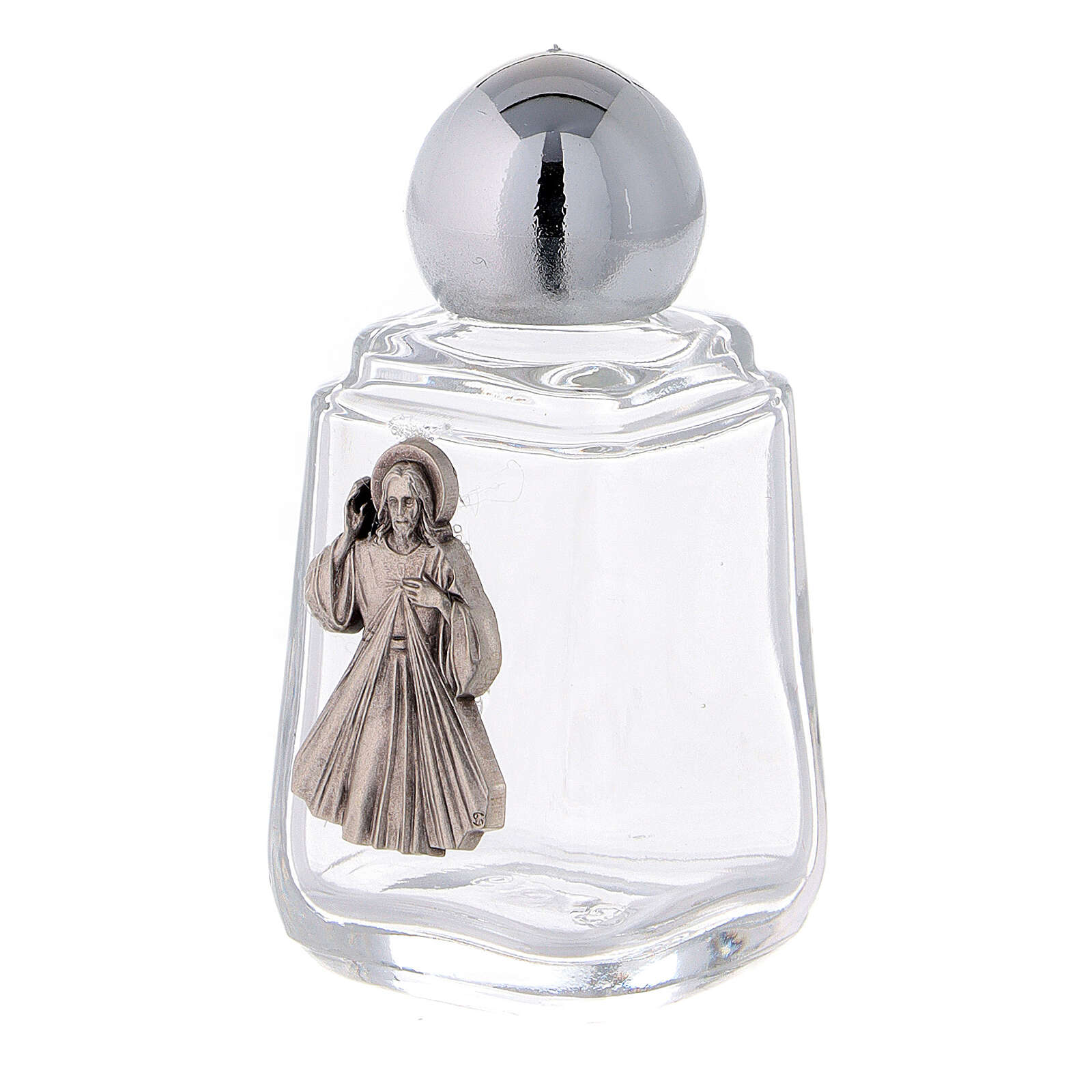 Glass holy water bottle with Divine Mercy, 15 ml (50 piece pk) 3