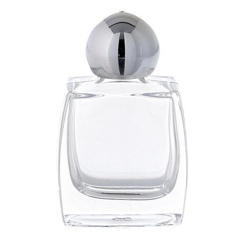 Botella agua bendita vidrio tapón plata 10 ml (CAJA 50 PIEZAS) 1