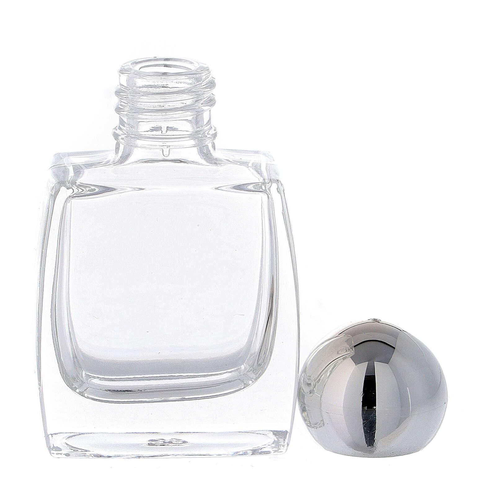 Flacon eau bénite verre bouchon argent 10 ml 50 pcs 3