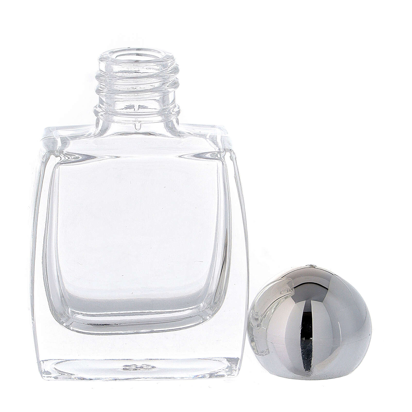 Holy water bottle in glass, 10 ml with silver cap (50 pcs pack) 3