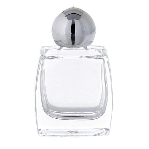 Holy water bottle in glass, 10 ml with silver cap (50 pcs pack) 1
