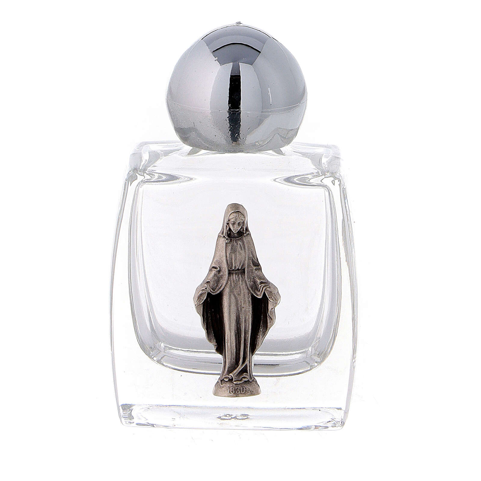 Holy water bottle 10 ml with Immaculate Mary, glass (50 pcs pack) 3
