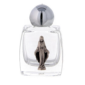 Holy water bottle 10 ml with Immaculate Mary, glass (50 pcs pack) s1