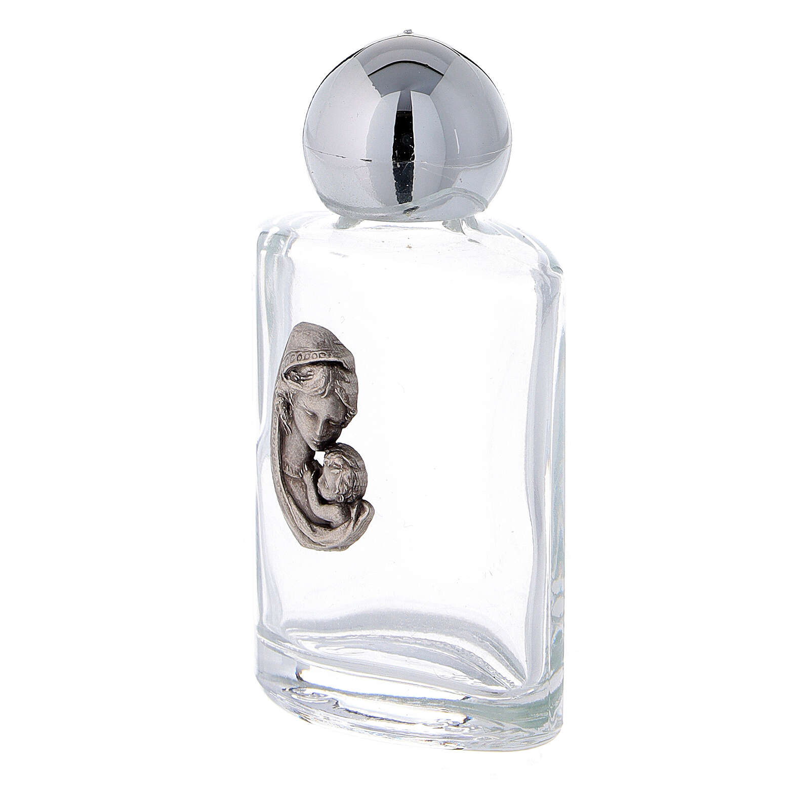 15 ml holy water bottle with Madonna with Child in glass (50 pcs pk) 3
