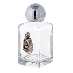 35 ml holy water bottle with Holy Family (50 pcs PACK) in glass s2