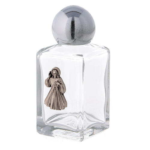 35 ml holy water bottle with Divine Mercy (50 pcs PACK) in glass 2