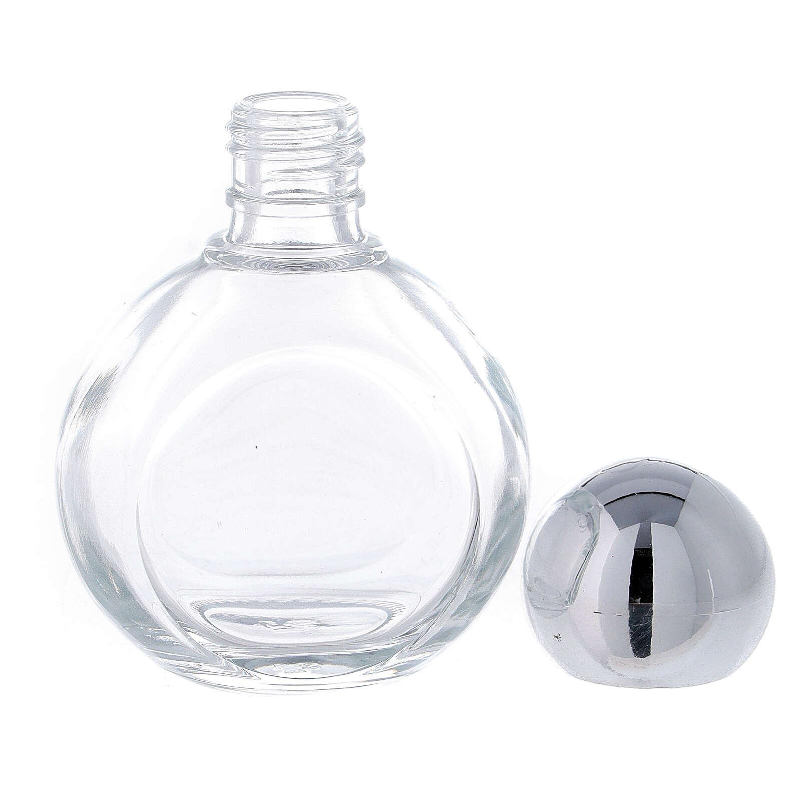 Bouteille ronde eau bénite 35 ml verre 50 pcs 3