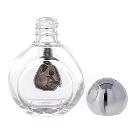 Round holy water bottle with Holy Family (50-piece pack) glass s3