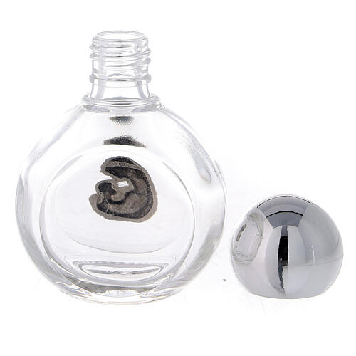Botella agua bendita Virgen y Niño 35 ml (50 PIEZAS) vidrio 3