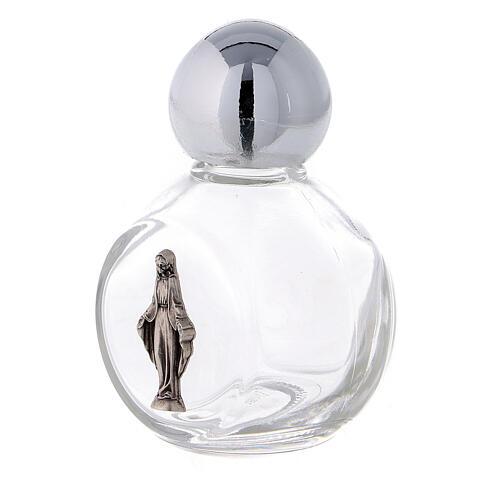 Bouteille ronde eau bénite Immaculée Conception 35 ml verre 50 pcs 2