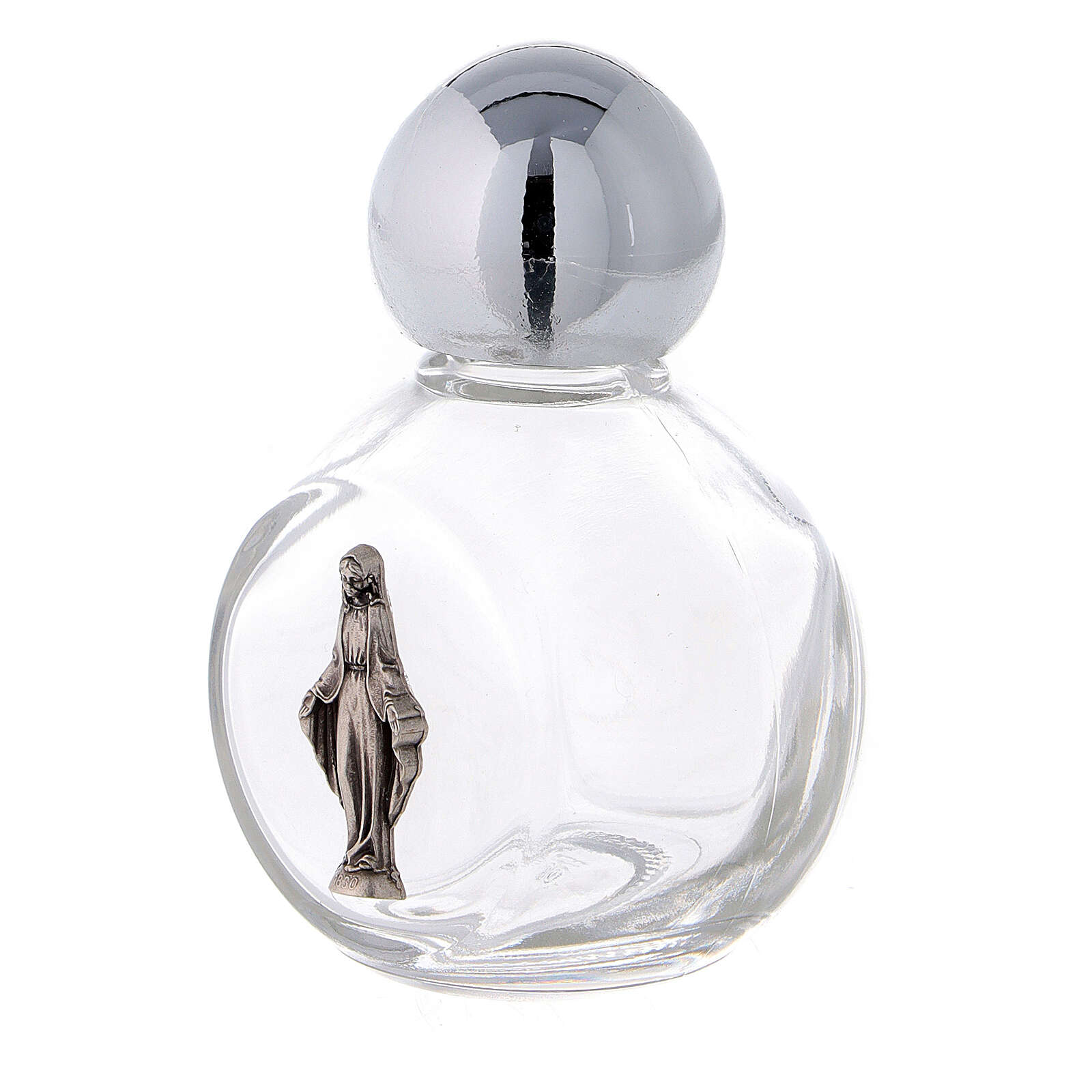 Round holy water bottle with Immaculate Mary 35 ml (50 pcs) glass 3
