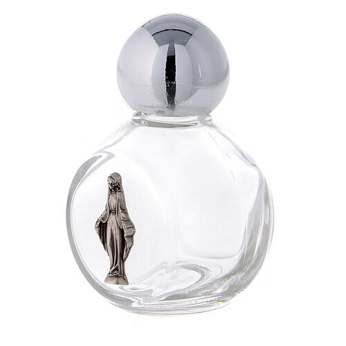 Round holy water bottle with Immaculate Mary 35 ml (50 pcs) glass 2