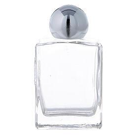 Bouteille rectangulaire eau bénite 35 ml verre 50 pcs s1