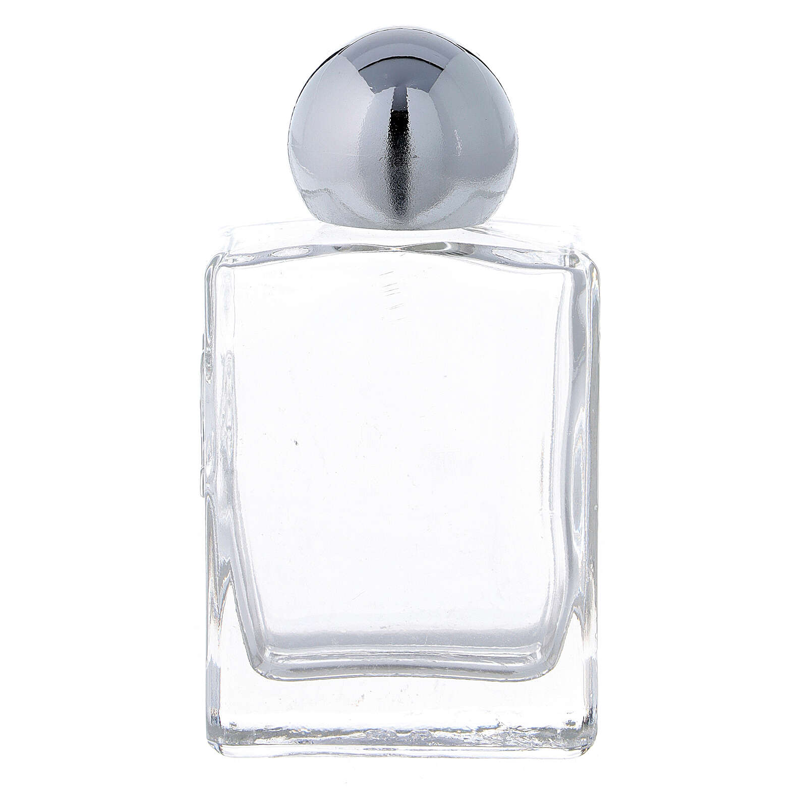 Square holy water bottle 35 ml, in glass (50 pcs PACK) 3
