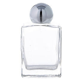 Square holy water bottle 35 ml, in glass (50 pcs PACK) s1