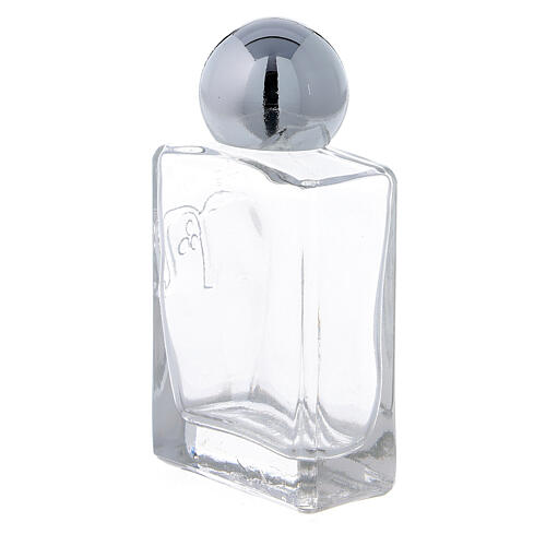 Square holy water bottle 35 ml, in glass (50 pcs PACK) 2