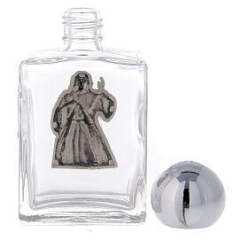 Square holy water bottle with Divine Mercy image 35 ml, in glass (50 pcs PACK) s3